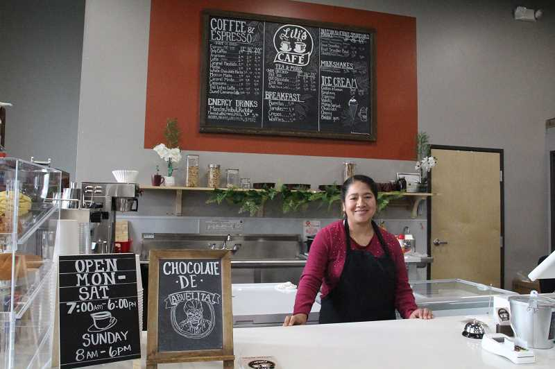 LINDSAY KEEFER - Lilia Giron is the owner of Lili's Cafe, Woodburn's only locally owned coffee shop, located in Metropolis Marketplace, 347 N. Front St.