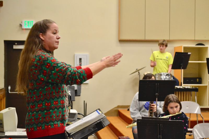 POST PHOTO: BRITTANY ALLEN - Deanna McGlothlin has taught band in the Oregon Trail School District for 12 years.