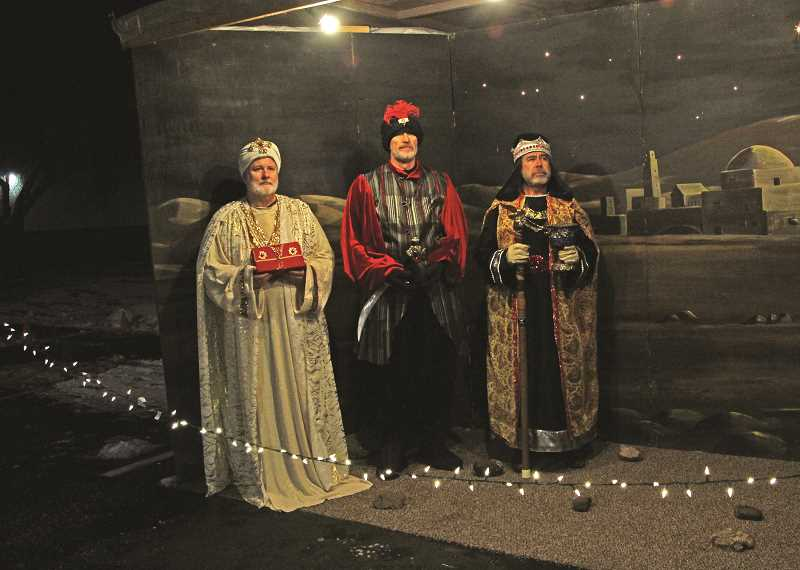 INDEPENDENT FILE PHOTO - The three wise men are included in the scenes from Jesus' life in the Living Christmas Story at Hoodview Church of God.