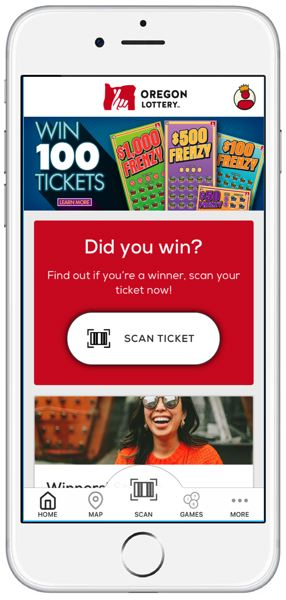 COURTESY PHOTO - Oregon Lottery released this image of their new mobile smartphone application.