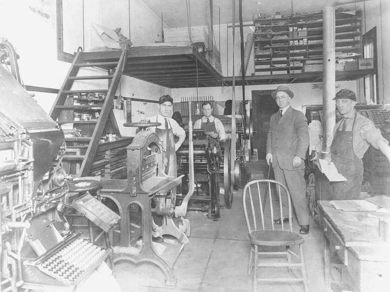 FILE PHOTO - An undated photo of the Woodburn Independent press.