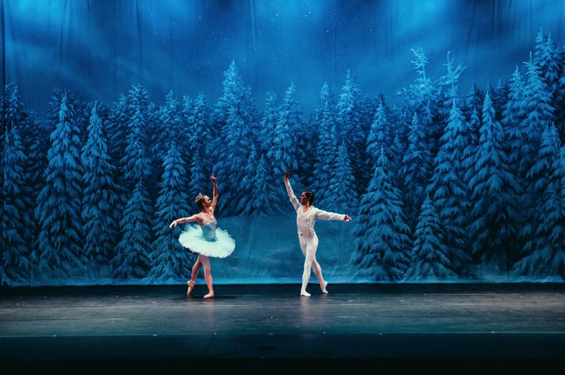 CONTRIBUTED PHOTO - Students Piper Conti and Jacob Tavera, with Inspire Dance Center, perform An Evening With The Nutcracker last year at Mt. Hood Community College.