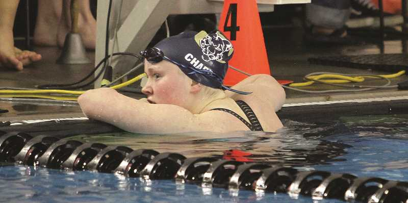 ARCHIVE PHOTO - Canby's Mairen Chard is one of the strong swimmers returning to the team this season, and will lead the team against the tough TRL competition.