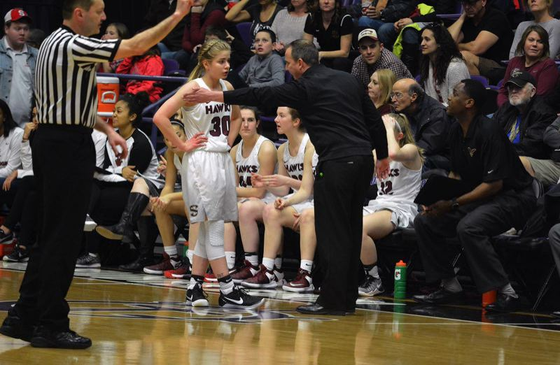 TIMES FILE PHOTO - Southridge junior point guard McKelle Meek and the Skyhawks are the two-time defending Class 6A state champions.