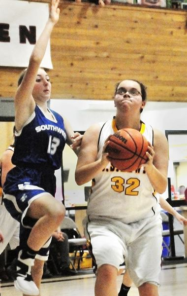GARY ALLEN - Sophomore Jamie Wooding provides a post presence for the C.S. Lewis girls team.