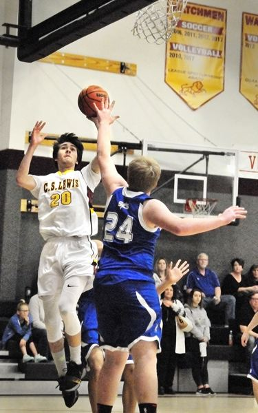 GARY ALLEN - Senior Jacob McClatchey is the tallest player on the C.S. Lewis roster, listed at 6-foot-4.