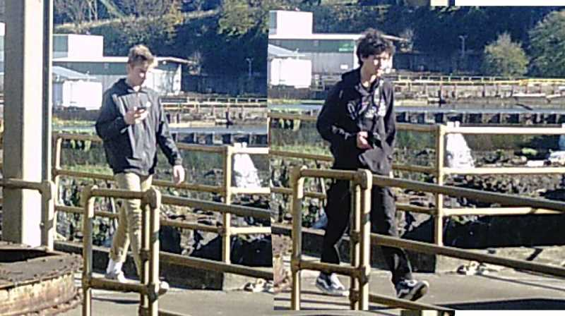 SUBMITTED PHOTO  - Anyone with information about these suspects should contact the West Linn Police.