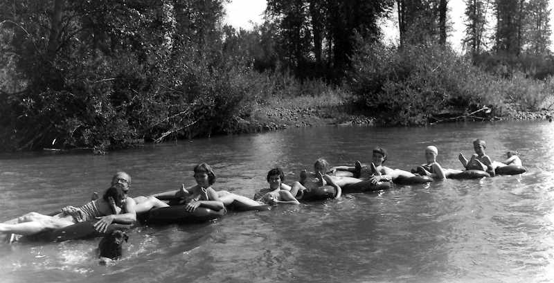 COURTESY PHOTO - People today are still floating down the Molalla River, just like they did in the early days. The Grove offers simple pleasures on hot days.
