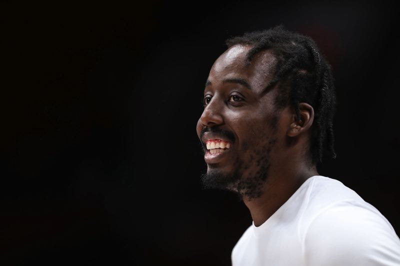 TRIBUNE PHOTO: DAVID BLAIR - Trail Blazers forward Al-Farouq Aminu has Nigerian roots that run deep and have led him to both play for the country's national team and take several service-related trips to Africa.