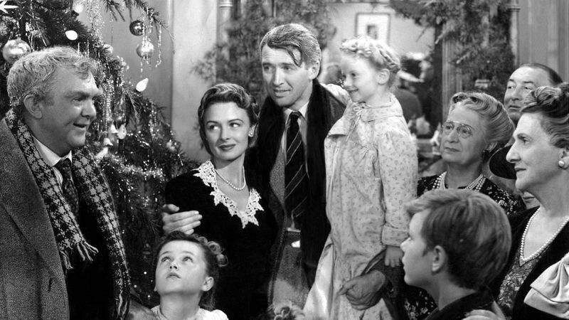 COURTESY: HOLLYWOOD THEATRE - The movie 'It's a Wonderful Life,' starring Jimmy Stewart and Donna Reed, is synonymous with the holidays. Artists Repertory Theatre's 'It's a Wonderful Life: A Live Radio Play' stars Chris Harder and Susannah Mars.