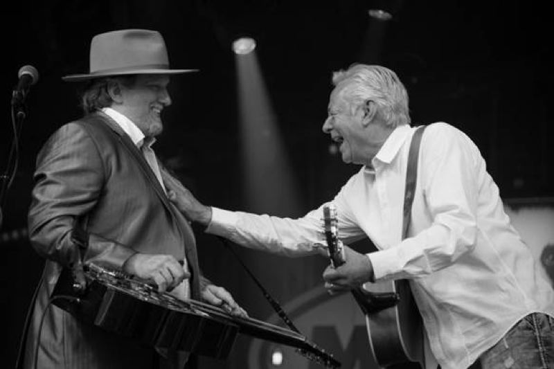COURTESY PHOTO - Jerry Douglas (left) and Tommy Emmanuel play two gigs at the Aladdin Theater, including Thursday's that still has tickets left.