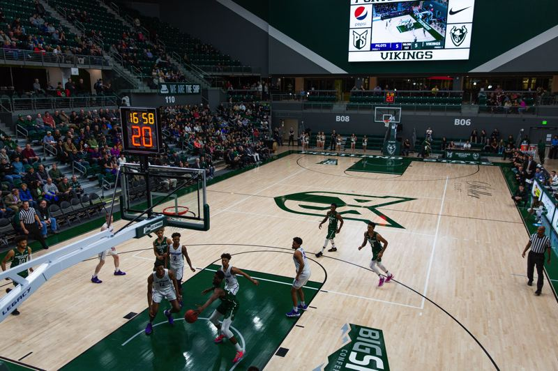 TRIBUNE PHOTO: ADAM WICKHAM - Portland State plays host to Portland in men's basketball Wednesday night at the new Viking Pavilion.