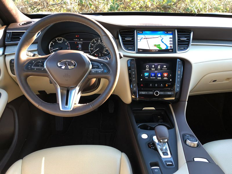 PORTLAND TRIBUNE: JEFF ZURSCHMEIDE - The interior of the 2019 Infiniti QX50 is smartly designed and can be ordered  with the latest automotive technologies.