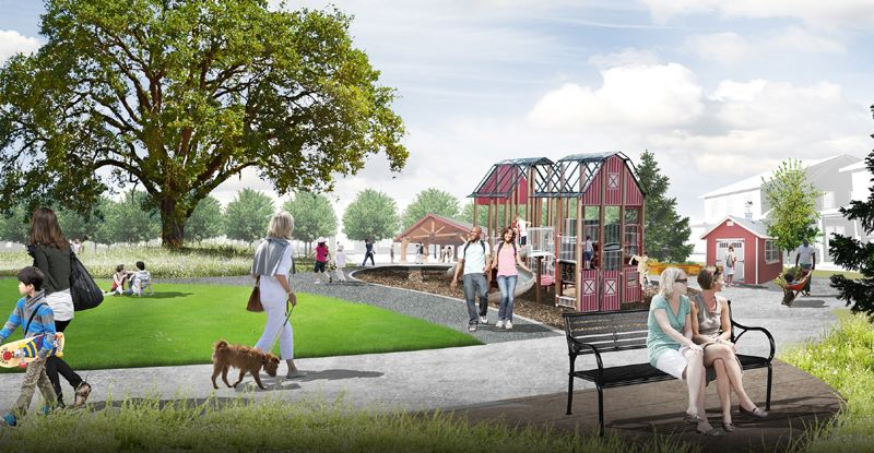 COURTESY: NEWLAND REAL ESTATE - Newland Real Estate, the developer of Reed's Crossing in South Hillsboro, has closed on contracts with Stone Bridge Homes Northwest, a Lake Oswego-based company, and national builder Lennar to construct the first single-family homes in the development