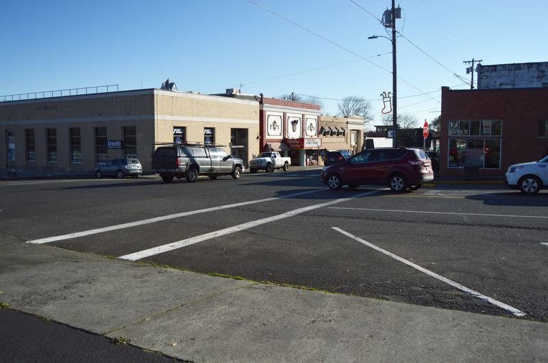 SPOTLIGHT PHOTO: NICOLE THILL-PACHECO - This intersection at St. Helens and 1st streets will be studied by transportation consultants over the coming months to determine what impact improvements would have on the intersection. The St. Helens City Council approved a contract with Kittelson & Associates on Wednesday, Dec. 5.