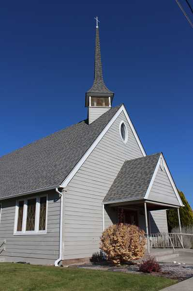 HOLLY SCHOLZ/CENTRAL OREGONIAN  - In the late 1950s, the congregation added onto the building. The addition included the steeple and the sanctuary and nave that could accommodate 150 people.