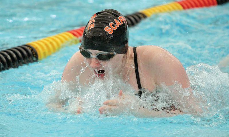 SPOTLIGHT FILE PHOTO - Madison Poppenhagen returns for her senior season as one of the key swimmers for the Scappoose Indians.