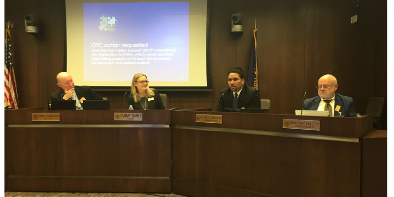 OREGON CAPITAL BUREAU/PARIS ACHEN - Members of Oregon's Transportation Commission unanimoulsy supported a tolling plan for sections of Portland-area highways during their Dec. 6 meeting in Salem.