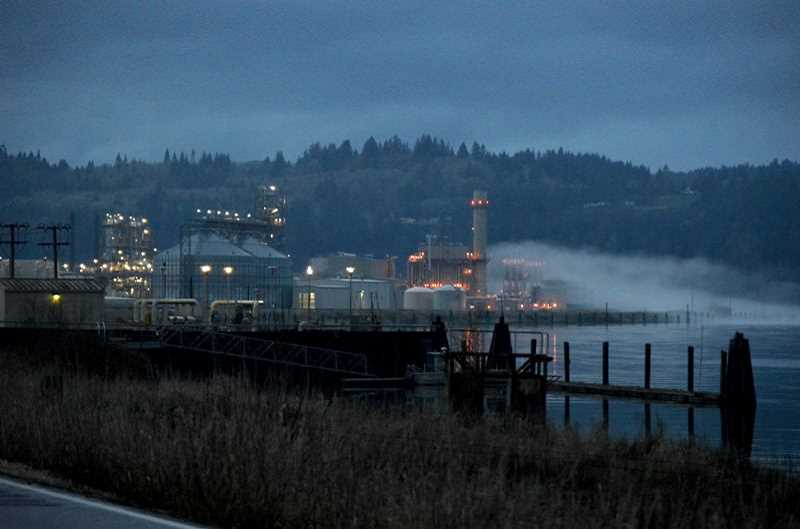SPOTLIGHT FILE PHOTO - The Columbia Pacific Bio-Refinery on the Columbia River, north of Clatskanie.