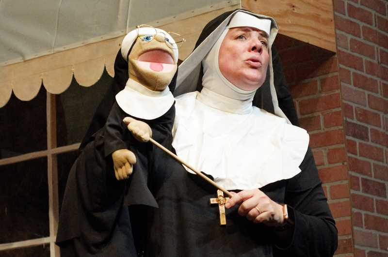 COURTESY PHOTO: THEATRE IN THE GROVE -  Actor Wendy Bax plays Sister Amnesia in Theatre in the Grove's production of 'Nuncrackers,' running until Dec. 23.