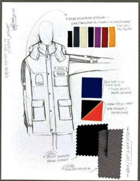COURTESY COLUMBIA SPORTSWEAR - A sketch of the new parka by Columbia Sportswear.