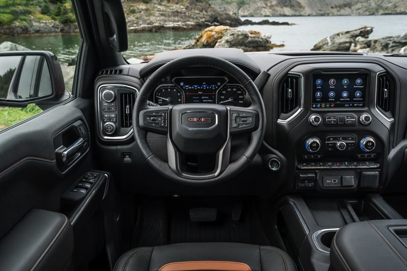 COURTESY GMC - The interior of the 2019 GMC Sierra Denali AT4 is as plush and well equipped as any genuine luxury car.