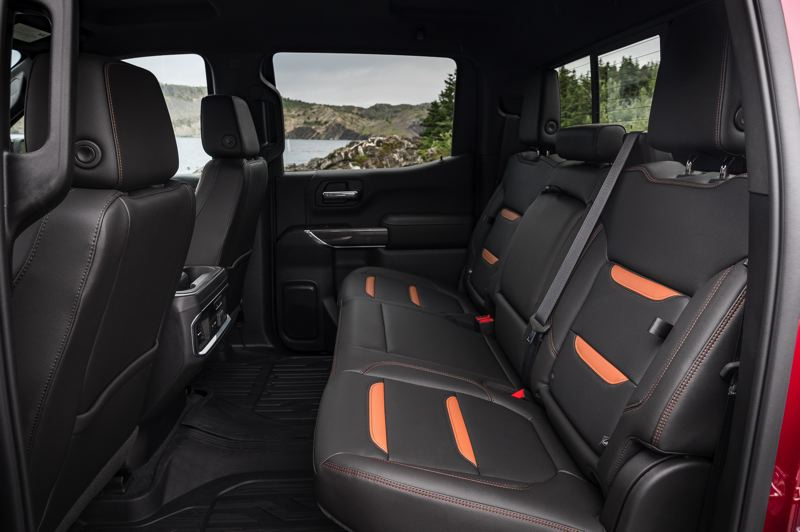 COURTESY GMC - There's plenty of room for three adults in the back of the 2019 GMC Sierra Denali Cew Cab AT4 .
