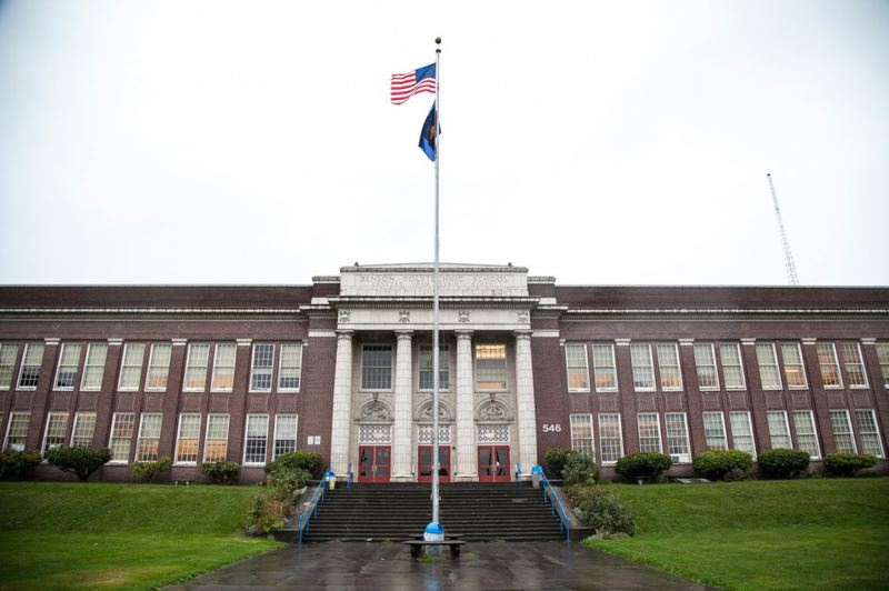 ALAN SYLVESTRE/OPV - Benson Polytechnic High School in Portland, Oregon.