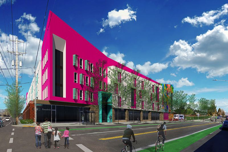 COURTESY PHOTO - A rendering provided by Salazar Architect shows the plan for the $47-million Las Adelitas affordable housing complex in Portland's Cully neighborhood.