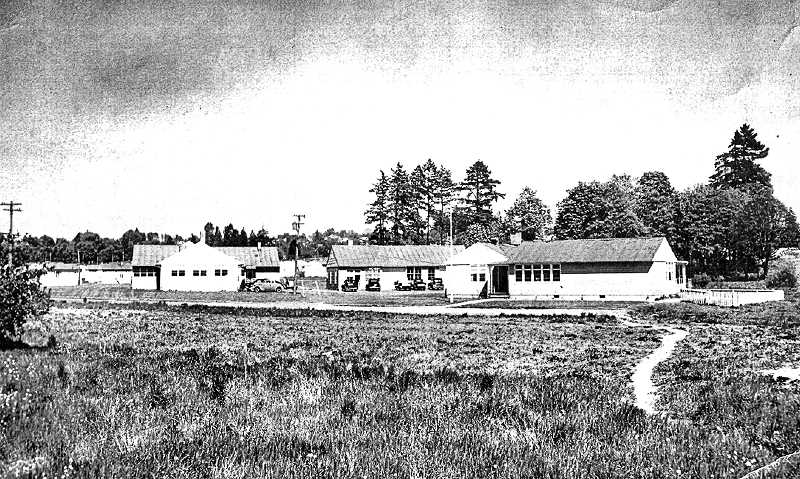COURTESY OF MILWAUKIE MUSEUM - This was the Clackamas Housing Authority Administrative Building as it looked in 1946, located south of the Kellogg Park Housing Development. After WWII ended, and the building was no longer in use, it was purchased by the Milwaukie Elks Lodge and used as temporary headquarters before their current building on McLoughlin Boulevard south of the City of Milwaukie was completed.