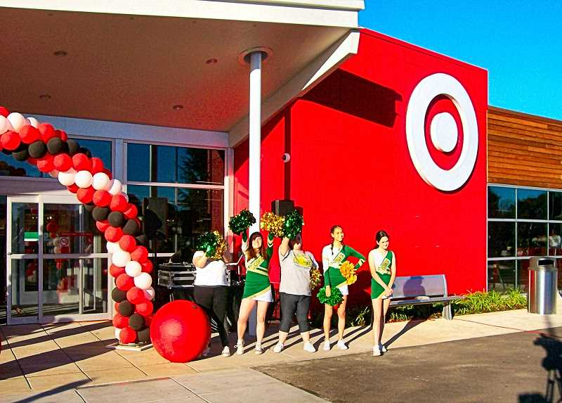 RITA A. LEONARD - Cleveland High Cheerleaders from just west on Powell assisted at Targets new store preview in late October.