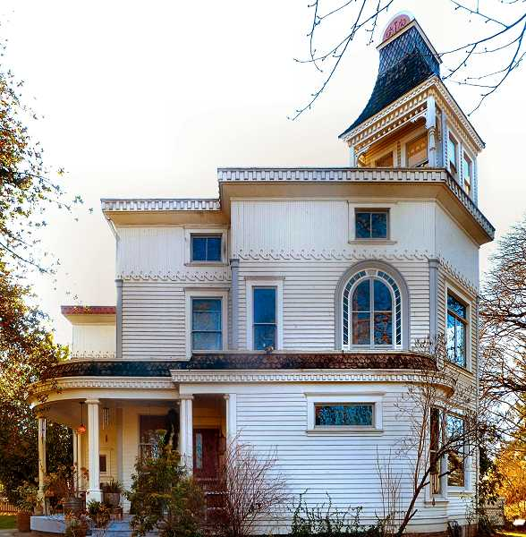EILEEN G. FITZSIMONS - The north elevation of the 1893-built John N. Russell house, at S.E. 38th and Martins Street.