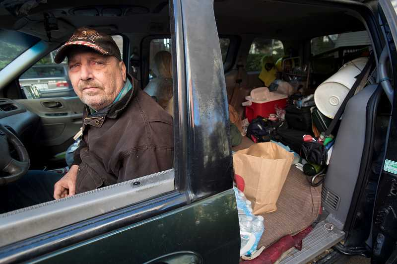 TIDINGS PHOTO: JAIME VALDEZ  - Chuck and Kristi were forced to live out of their van after they unexpectedly lost their home in Gresham two years ago.