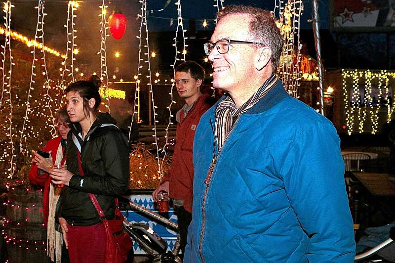 DAVID F. ASHTON - At the Foster Road WinterFest, after enjoying the Holiday lighting ceremony at Carts on Foster, City Commissioner Nick Fish told THE BEE hell defend against efforts to homogenize our diverse Rose City, and its local neighborhood business associations.