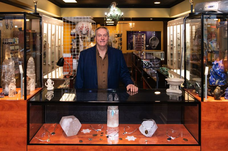 STAFF PHOTO: CHRISTOPHER OERTELL - Norman Baldwin has opened Crystal Heart Books and Crystal Heart Boutiques on Hillsboro's Main Street.