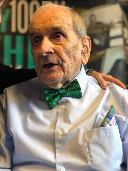 COURTESY OF PHIL MCGUIGAN - John McGuigan celebrated his 100th birthday on Dec. 8 at the Tualatin VFWs Matthew Lembke Hall.