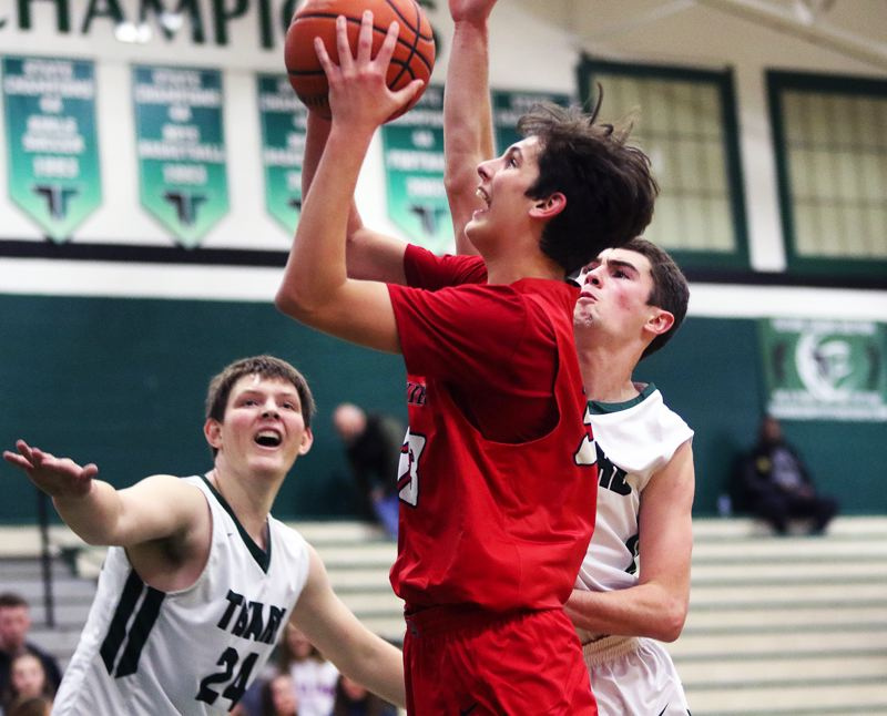 TIMES PHOTO: DAN BROOD - Westview sophomore Brady Grier looks to take a shot during the Wildcats' game at Tigard on Friday.