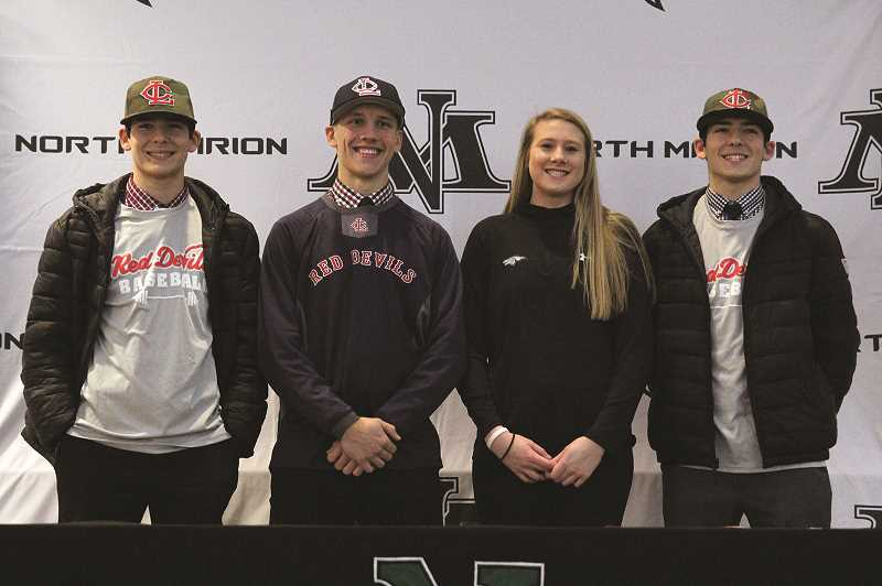 PAMPLIN MEDIA GROUP PHOTO: PHIL HAWKINS - Huskies baseball team sends three to Lower Columbia College, volleyball standout commits to Cardinal Stritch