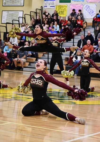 COURTESY PHOTO - Forest Grove's Kaylinn Gilstrap in action at the Fall State Category Championships Saturday, Dec. 1, at West Linn High School.