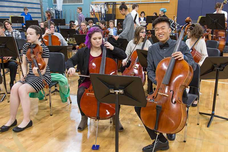 SUBMITTED PHOTO - Wilsonville High School musicians perform at last year's winter festival.