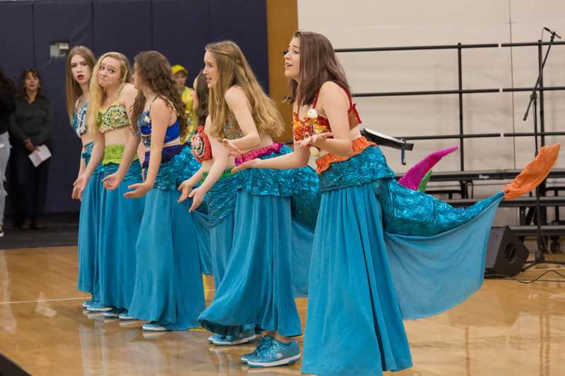 SUBMITTED PHOTO  - Wilsonville High School's theater department puts on a performance during last year's winter festival.