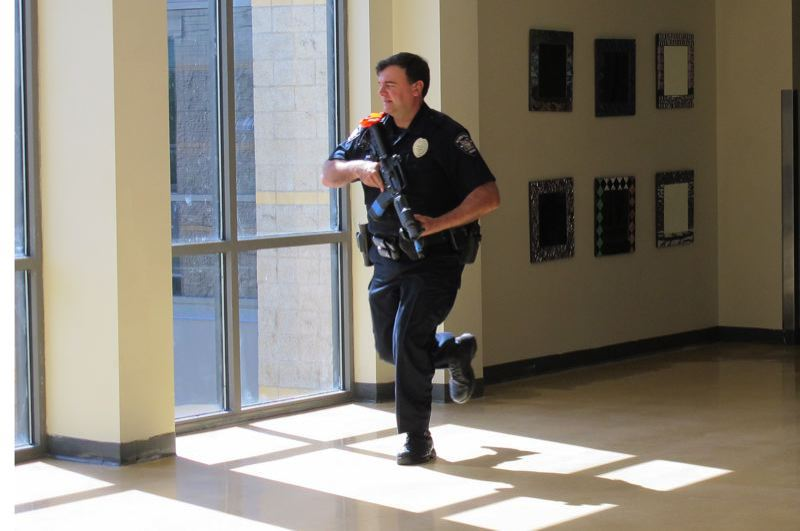 FILE PHOTO - Several years ago, Liberty High School was the scene of an active shooter training drill conducted by the Hillsboro School District, the Hillsboro Police Department and Hillsboro Fire & Rescue.
