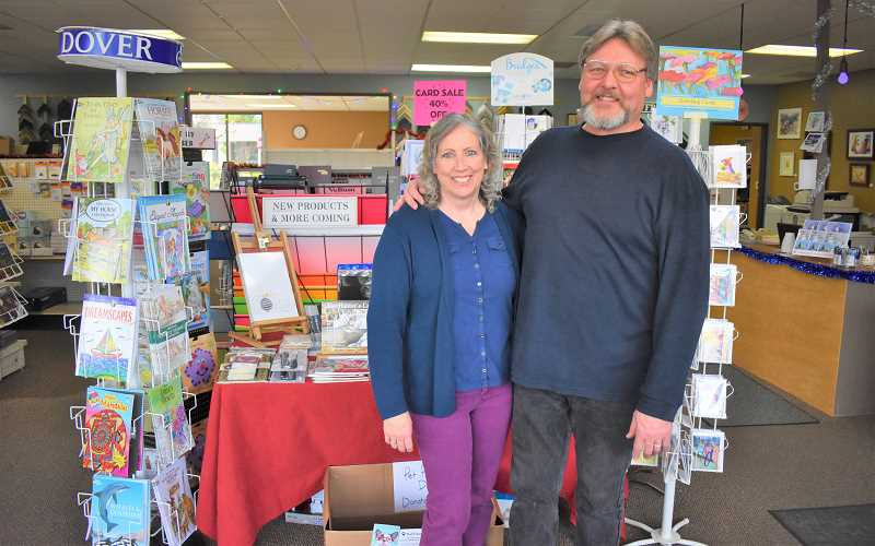 ESTACADA NEWS PHOTO: EMILY LINDSTRAND - Dave and Ellen Anderson have been at the helm of The Artsmith since October.