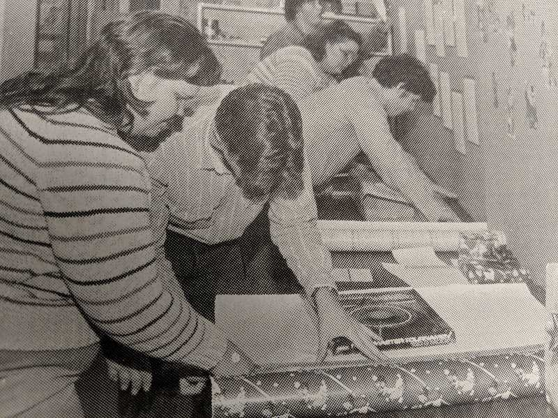 ARCHIVE PHOTO - In 1988, students at Estacada High School held a gift wrapping fundraiser.