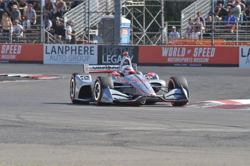 PORTLAND TRIBUNE: JEFF ZURSCHMEIDE - 2018 Grand Prix of Portland IndyCar polesitter Will Power.