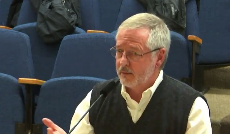 SCREENSHOT: YOUTUBE.COM - Kevin Spellman of the Bond Accountability Committee presents to the Portland Public Schools board Dec. 11.