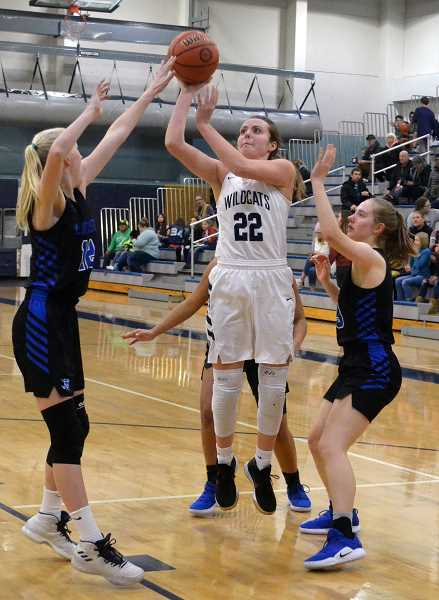 SPOKESMAN PHOTO: TANNER RUSS - Senior Cydney Gutridge led the team in the third quarter with 7 points.