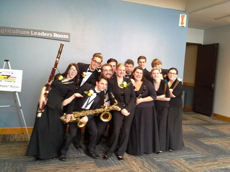 PHOTO COURTESY OF KRISTINA SAUL - Noelle Freshner, center, poses for a photo with her students after a competition.