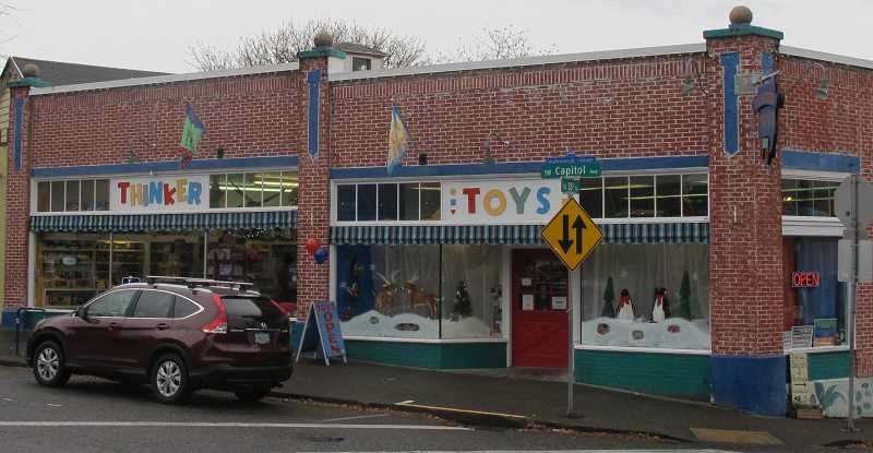 The current 4,000-square-foot store is the  third and last location for Thinker Toys. It is 10 times the size of the first store.