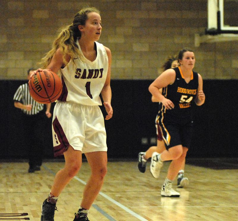 SANDY POST: DAVID BALL - Sandys Bella Kansala sets up on the offense during the fourth quarter of the Pioneers 55-33 win over Hood River.
